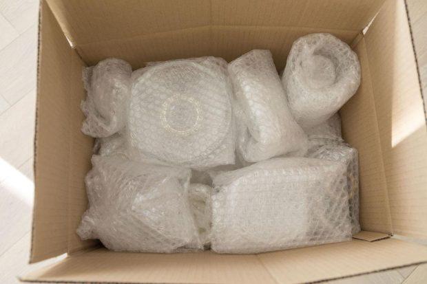 Faire face au déménagement avec d'objets fragiles